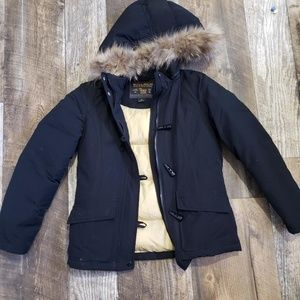 Woolrich down jacket with fur trim